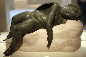 800px-WLA_metmuseum_Bronze_statue_of_Eros_sleeping_7